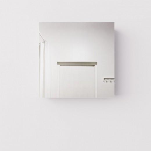 Навесной квадратный шкаф с зеркалом для ванны, ДСП