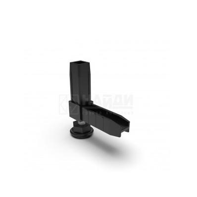 Коннектор 2 труб с регулируемой опорой Чёрный  (система Лофт)