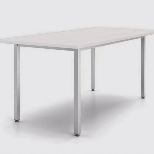 Большой рабочий стол «Юнифлекс» из белого ДСП 22мм, 2000х1000мм