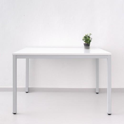 Широкий обеденный стол Юнифлекс+, 900х1200, белая ДСП 22мм