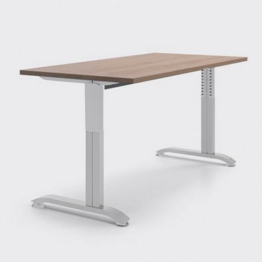 Регулируемый по высоте рабочий стол от 70 до 90 см «Пилот С», ДСП 16мм, Дуб Сонома, 120х60см