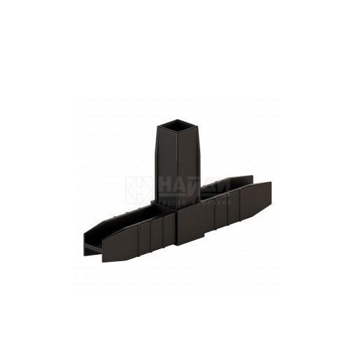 Коннектор 3 труб (2D). Чёрный  (система Лофт)