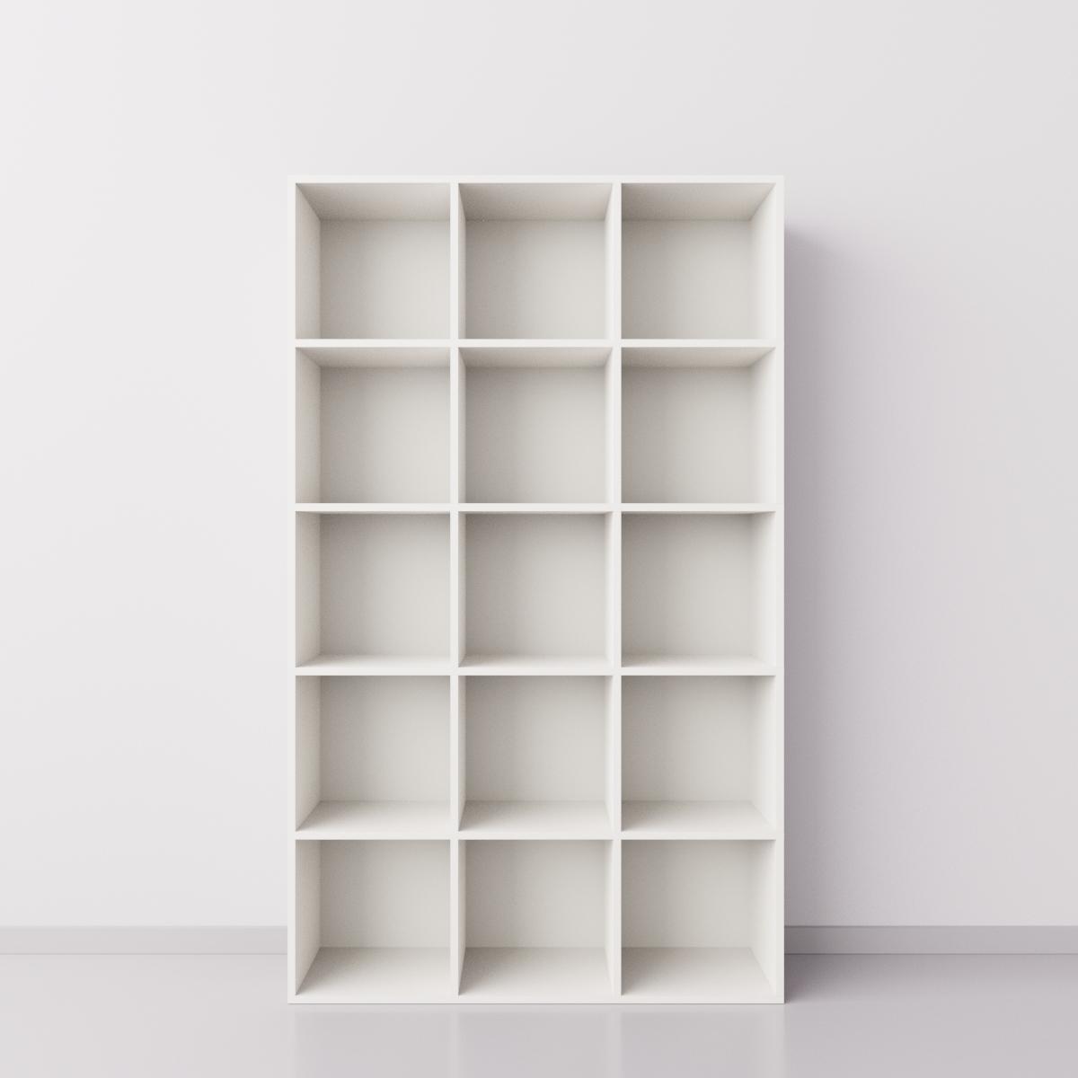 Высокий стеллаж 3x5 квадрата, белый