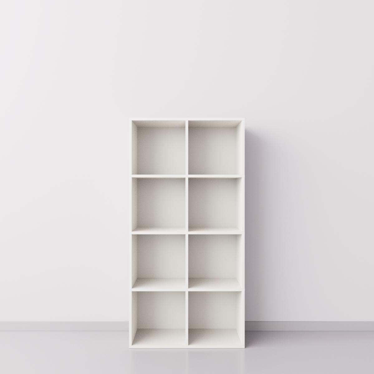 Шкаф 2x4 квадрата, белый