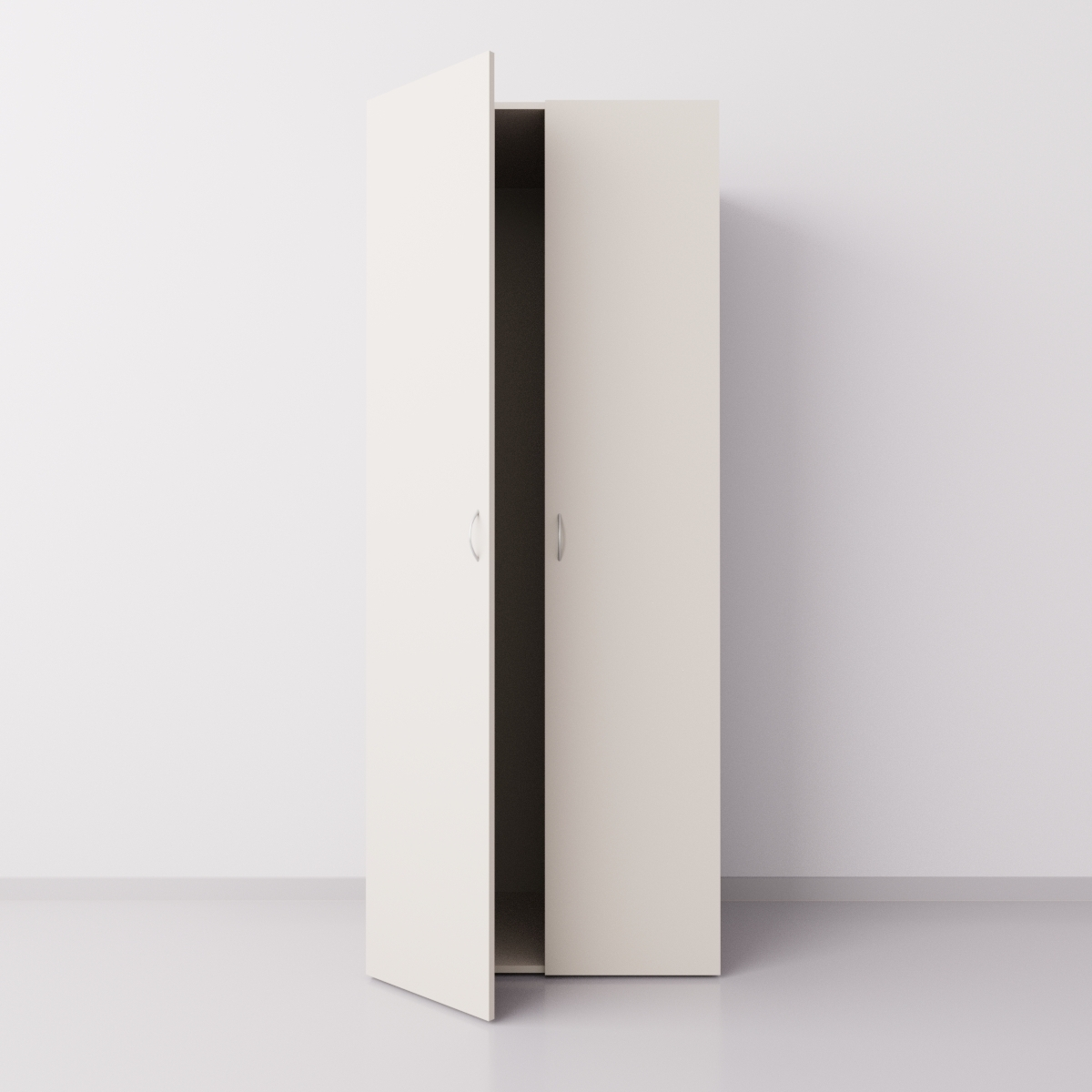 Шкаф для одежды двухстворчатый, ДСП, бежевый