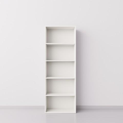 Стеллаж 1x5 прямоугольников, белый