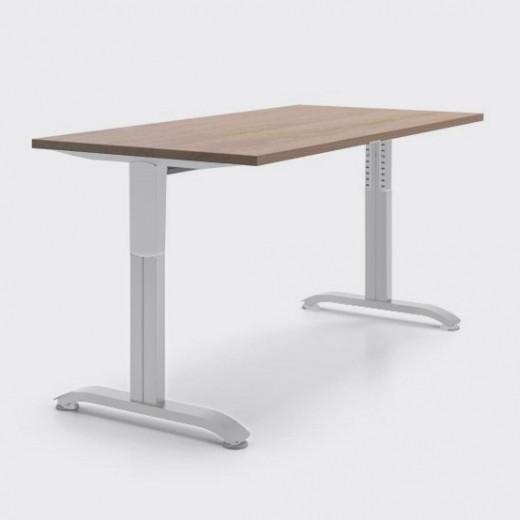 Регулируемый по высоте рабочий стол от 70 до 90 см «Пилот Т», ДСП 16мм, Дуб Сонома, 120х60см