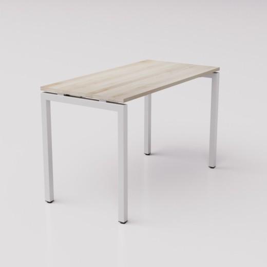 Стол из берёзы на сером металлическом каркасе  формат ТР  с парящей столешницей 120х60см