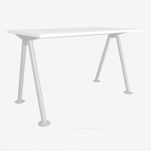 Рабочий стол «Тандем 3» из белого ДСП 22мм, 1200х650мм