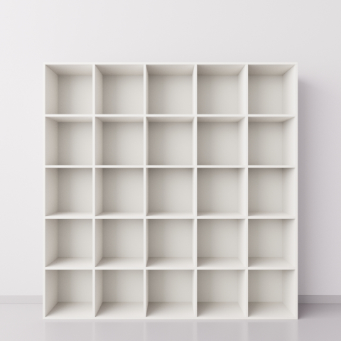 Шкаф 5x5 квадратов, белый