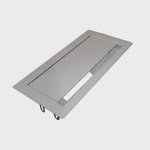 Лючок для проводов прямоугольный, серый (Д-039)