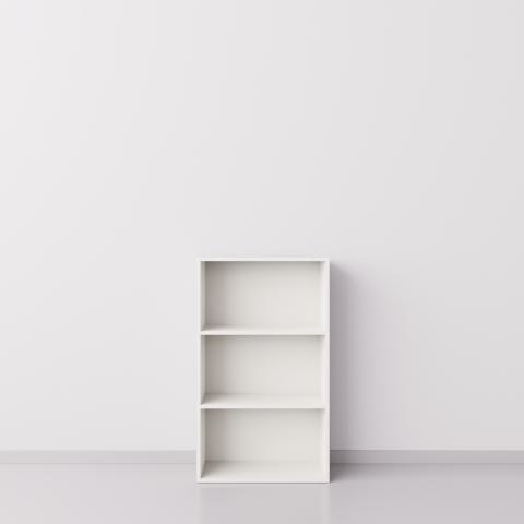 Стеллаж 1x3 прямоугольника, белый