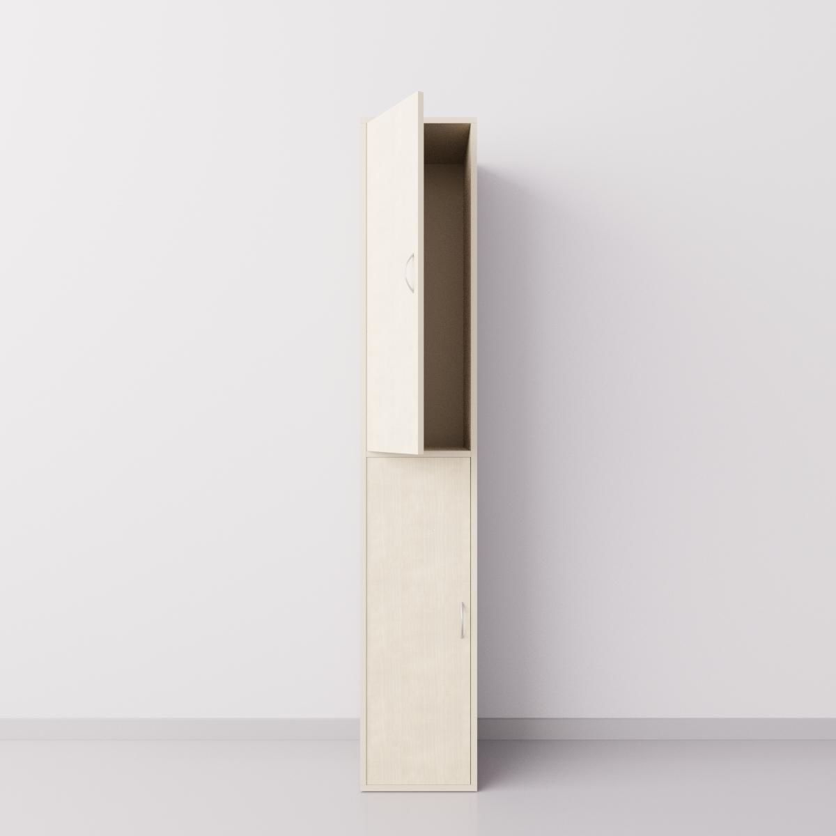 Шкаф для раздевалки из ДСП 1х2 вертикальные секции, клён