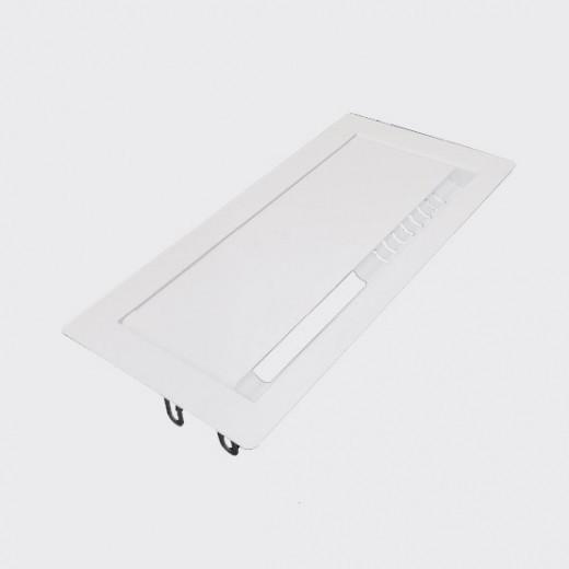 Лючок для проводов прямоугольный, белый (Д-039)