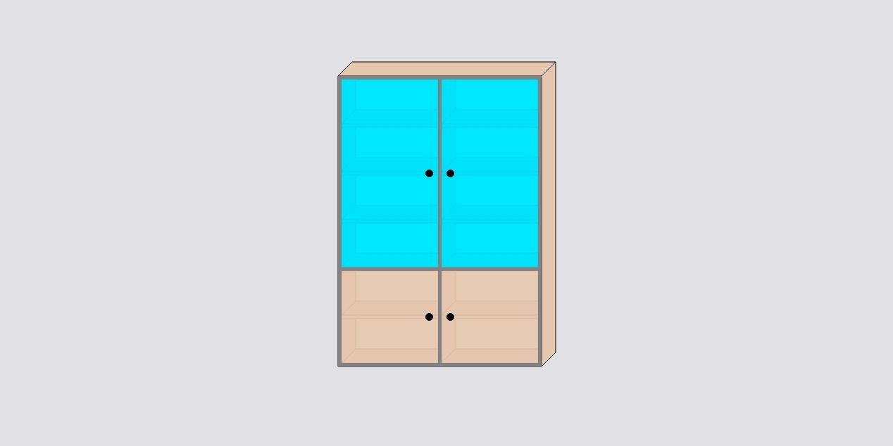 Разные фасады в одном шкафе