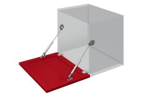 Газлифт для открывания дверцы вниз