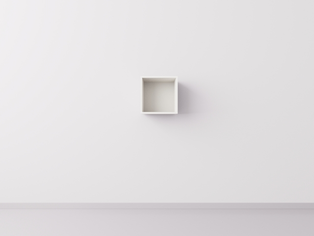 Полка 1x1 квадрат, белый