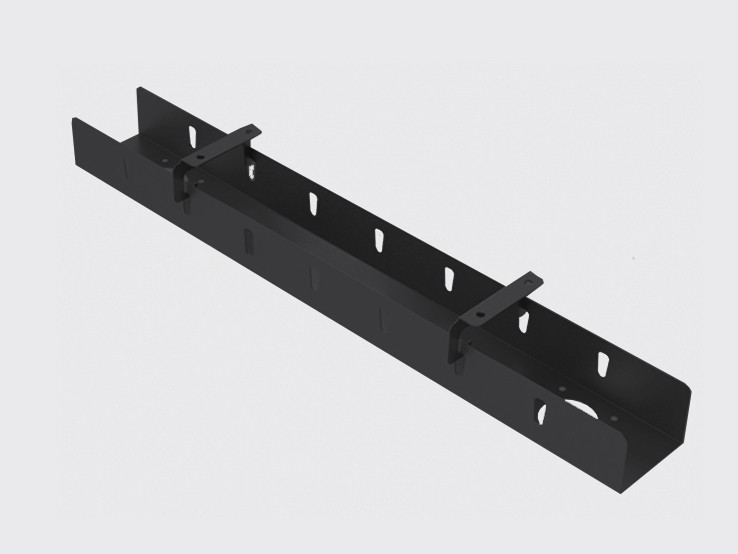 Съёмный узкий кабель-канал 1м, чёрный (Д-041)
