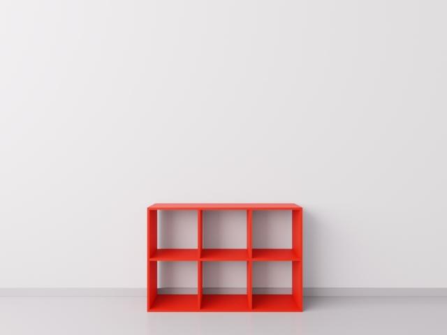 Шкафчик для детских игрушек 3х2, ДСП, красный