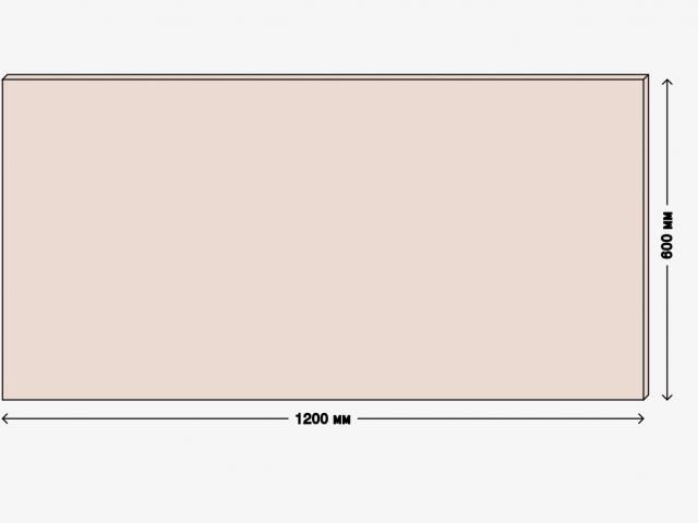Столешница для рабочего стола 120х60см, ДСП 22мм, дуб молочный