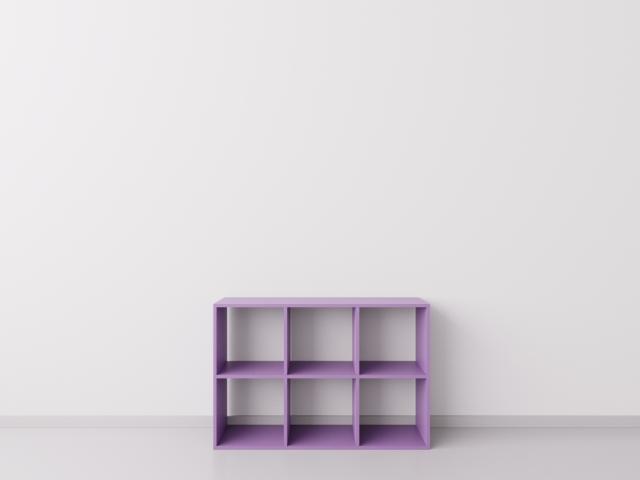 Шкафчик для детских игрушек 3х2, ДСП, фиолетовый