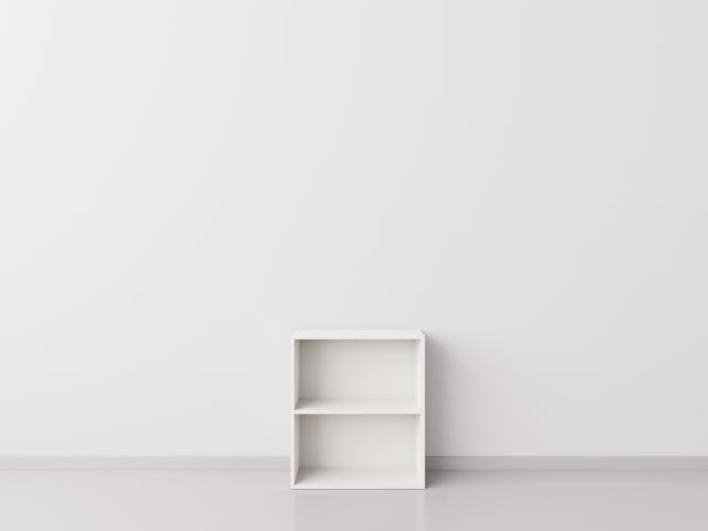 Тумба 1x2 прямоугольника, белая