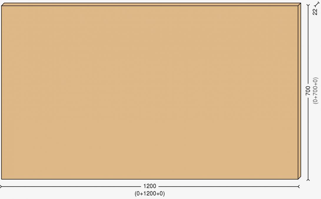 Столешница 120х70см, массив берёзы 22мм + бесцветный лак
