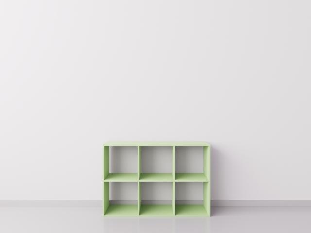 Шкафчик для детских игрушек 3х2, ДСП, фисташковый