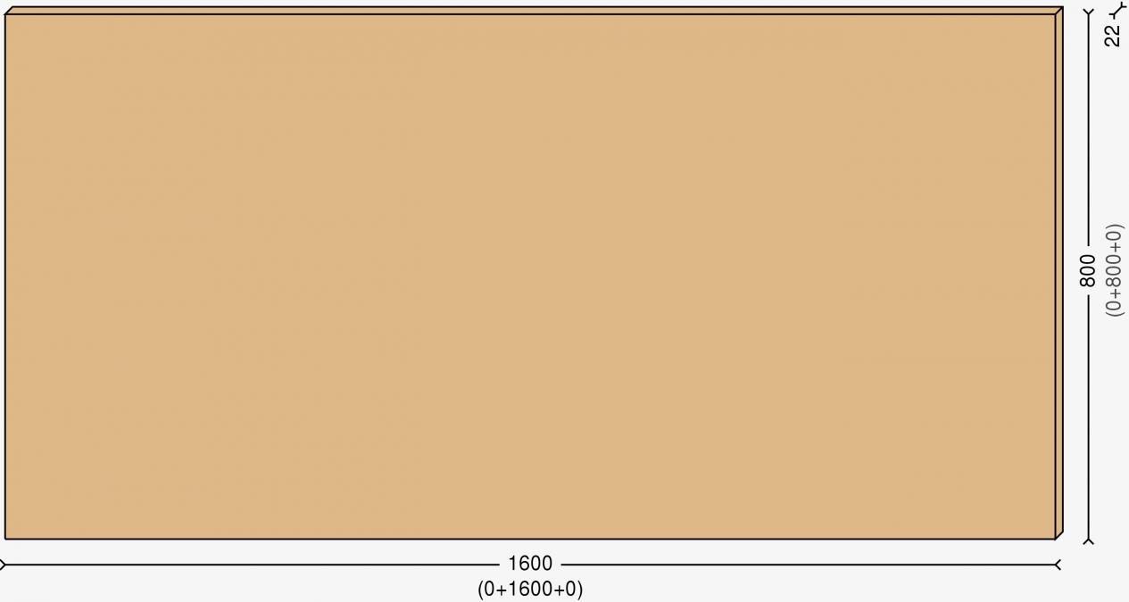Cтолешница 160х80см, массив берёзы 22мм + бесцветный лак
