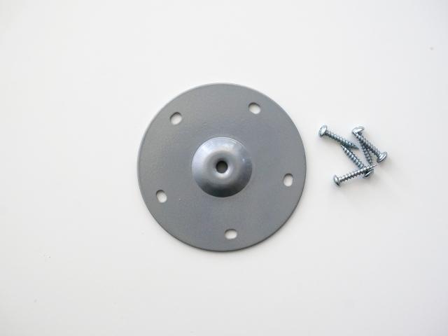 Ножка круглая 70см серебристая, регулируемая