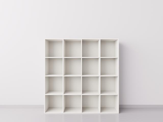 Шкаф 4x4 квадрата, белый