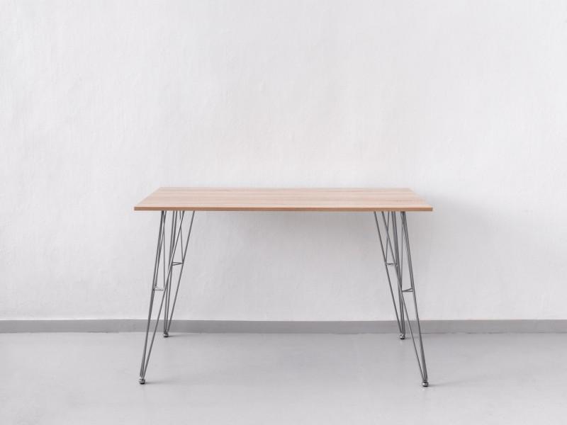 Стол на опорах Эйфель со столешницей из ДСП 16мм, Дуб Сонома