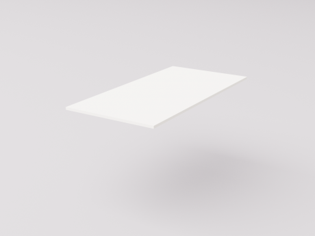 Столешница для рабочего стола классическая 120х60см, белый ДСП 16мм