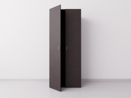 Шкаф для одежды двухстворчатый, ДСП, венге