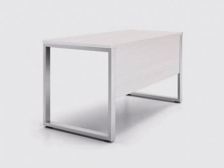 Рабочий стол «Зета ГЗ» со столешницей и экраном из белого ДСП 22мм, 1200х600мм