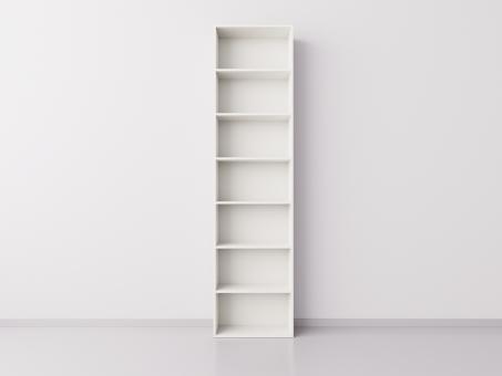 Стеллаж  1x7 прямоугольников, белый
