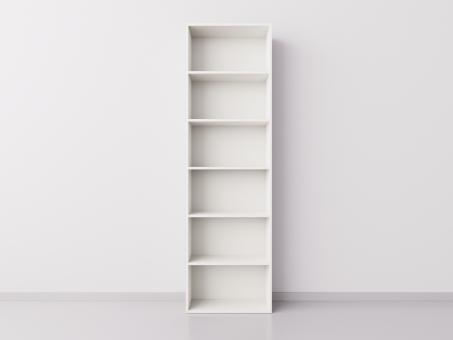 Высокий стеллаж 1x6 прямоугольников, белый