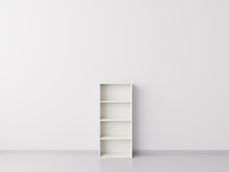 Стеллаж 1x4 прямоугольника, белый
