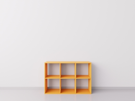 Шкафчик для детских игрушек 3х2, ДСП, оранжевый