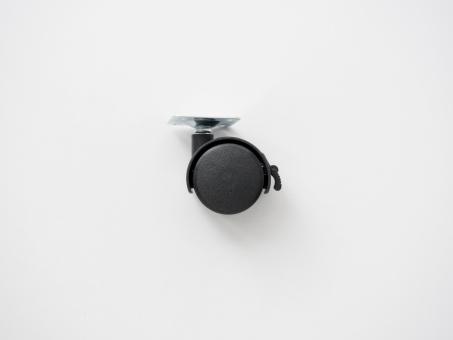 Колесо пластиковое с тормозом. Малое