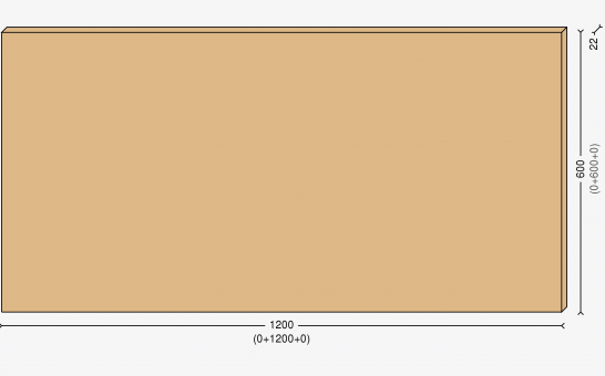 Столешница 120х60см, массив берёзы 22мм + бесцветный лак