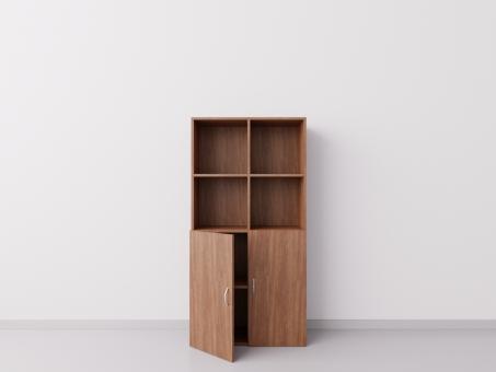 Шкаф 2x4 с дверцами, ДСП орех