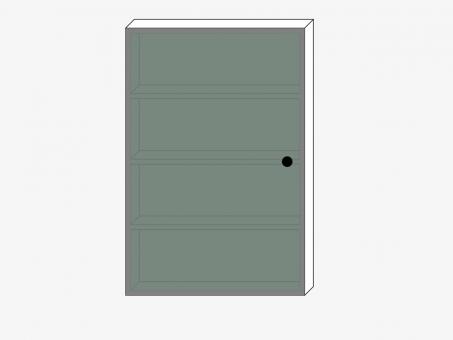 Навесной высокий шкаф с зеркалом для ванной комнаты, ДСП