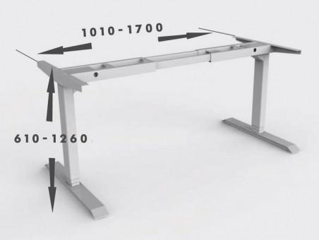 Каркас для регулируемого по высоте стола с электроприводом