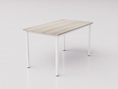 Большой рабочий стол из натуральной берёзы на металлокаркасе 135х75см