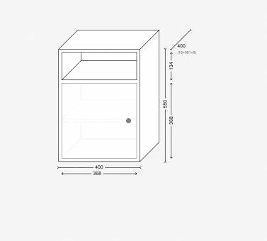Прикроватная тумба  с дверцей (серия Базис)
