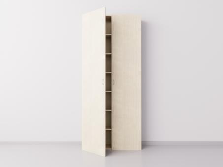 Высокий шкаф с двумя большими дверцами из ДСП, клён