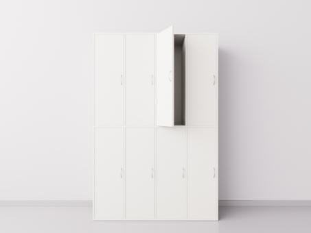 Шкаф для раздевалки из ДСП 4х2 вертикальные секции, белый