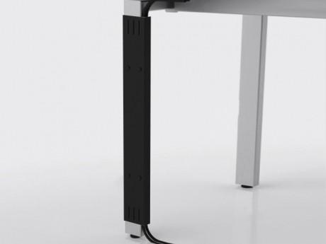 Накладной кабель канал (Д-016) для опоры, чёрный