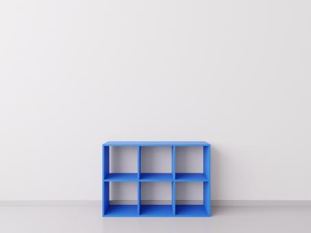 Шкафчик для детских игрушек 3х2, ДСП, голубой (синий)